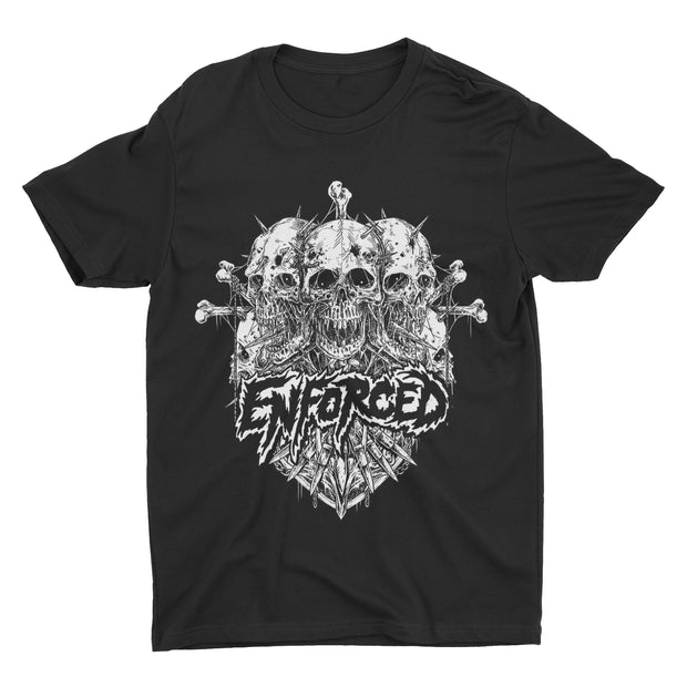Enforced - Spiked Skulls t-shirt *PRE-ORDER*