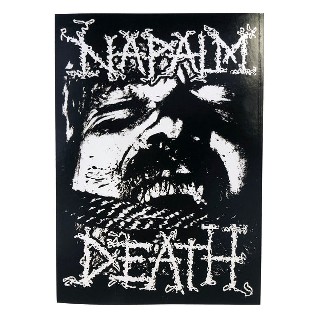Napalm Death - Logic Ravaged By Brute Force sticker