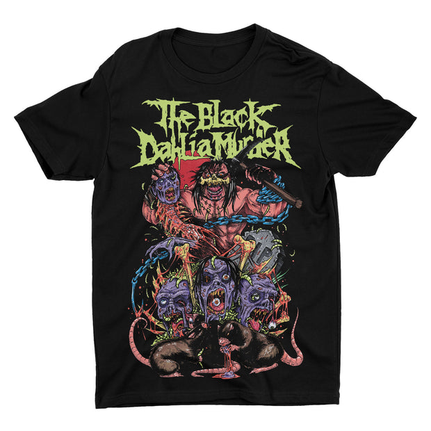 The The Black Dahlia Murder Death Metal t-shirt printed on standard tees. Pick ax ready swing down doom on the zombies around them as rats feast on remains.
