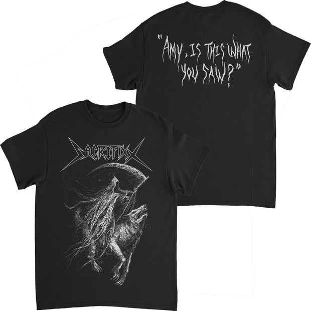 Sacrifixx - Amy, Is This What You Saw? t-shirt + download *PRE-ORDER*