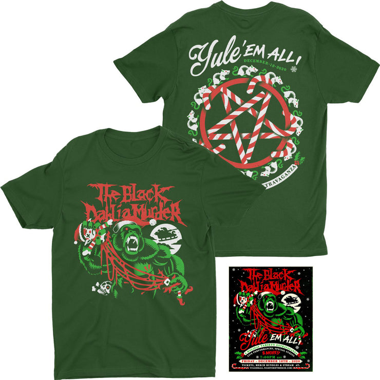 The Black Dahlia Murder - Yule' Em All t-shirt + stream ticket