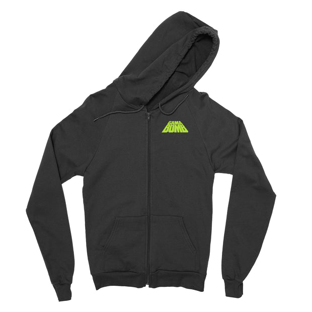 Gama Bomb - Snowy vs The Kraken zip-up hoodie