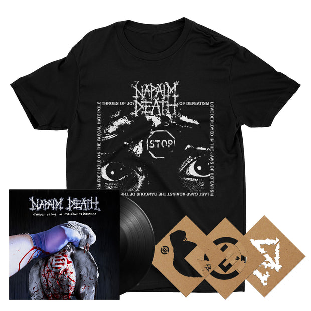 Napalm Death - Throes Of Joy In The Jaws Of Defeatism LP bundle