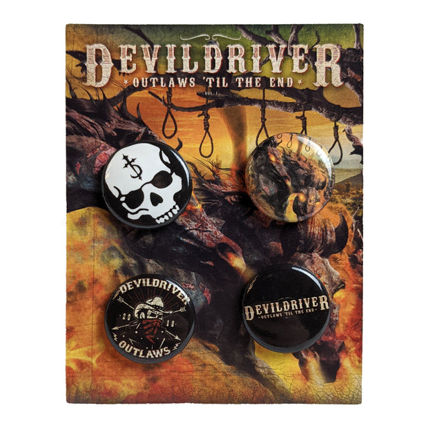 DevilDriver - Outlaws Til The End button pack