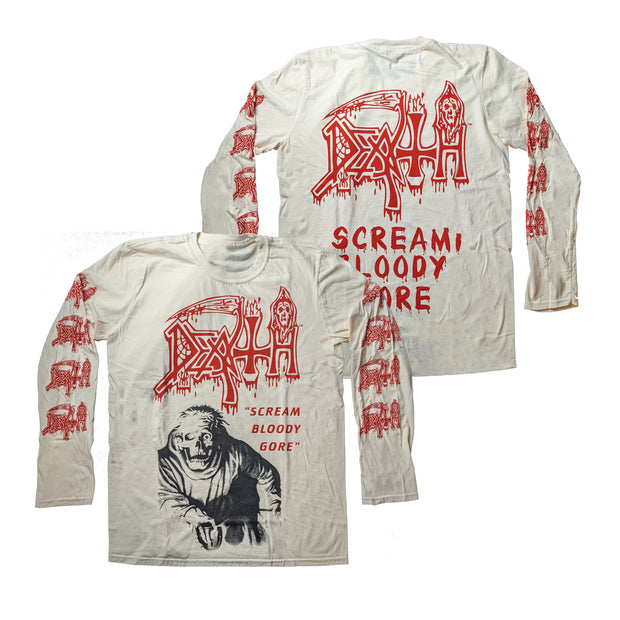 Death - Scream Bloody Gore (Off-White) long sleeve