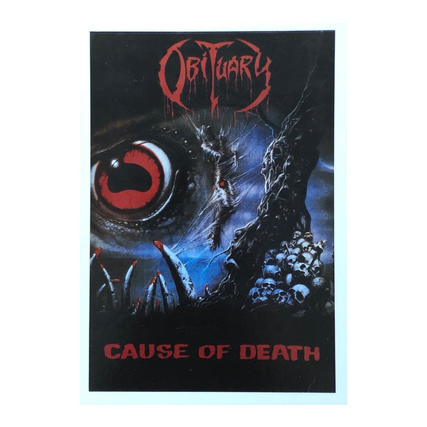 Obituary - Cause Of Death postcard