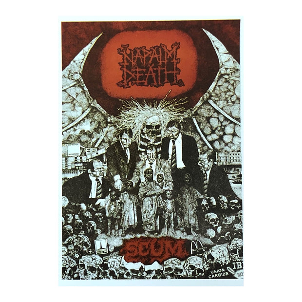 Napalm Death - Scum postcard