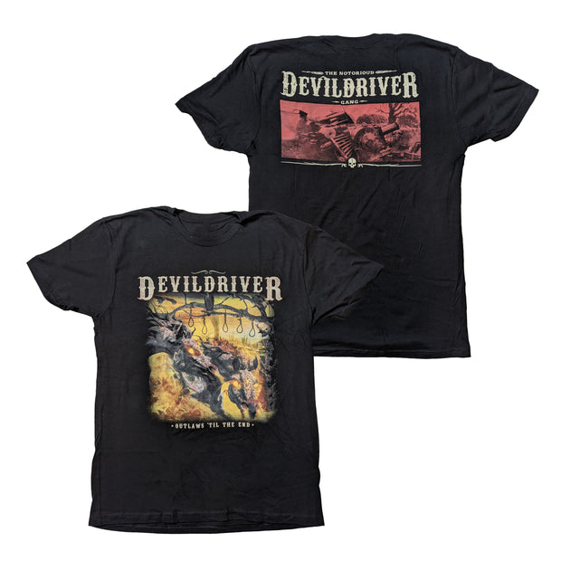 DevilDriver - Outlaws Til The End Square t-shirt