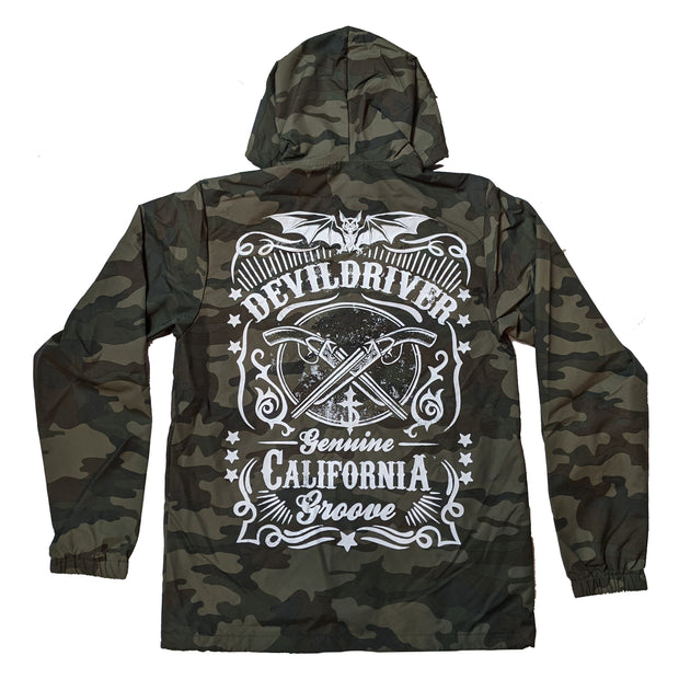 DevilDriver - Crossed Guns Camo Windbreaker