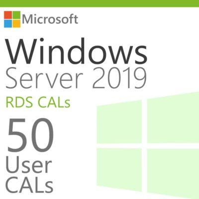 Windows Server 2019 50 RDS User CALs Product Key Global