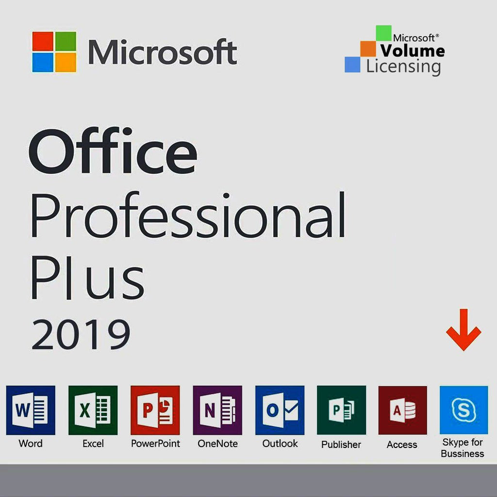 Microsoft Office Professional Plus 2019 Product Key FPP Retail.