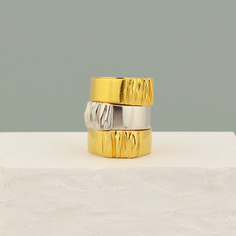 Modern jewelry collection by Pargo Jewelry - Modern rings in gold and silver