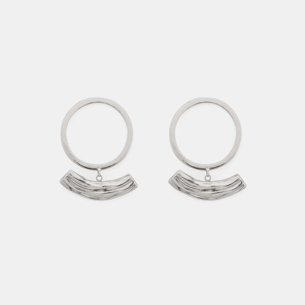 Soft Rhythm - Modern Silver Earrings - Pargo Jewelry