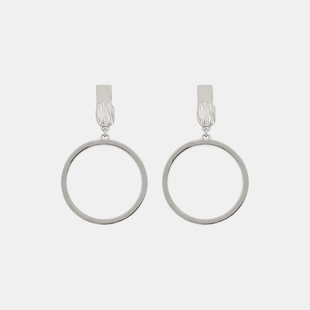 Riva Earrings - Contemporary Silver Earrings- Pargo Jewelry