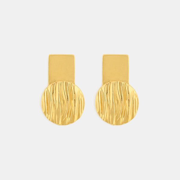 Reflections Earrings - Contemporary Gold Earrings- Pargo Jewelry