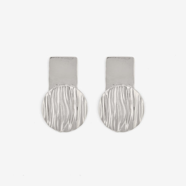 Reflections Earrings - Contemporary Silver Earrings - Pargo Jewelry