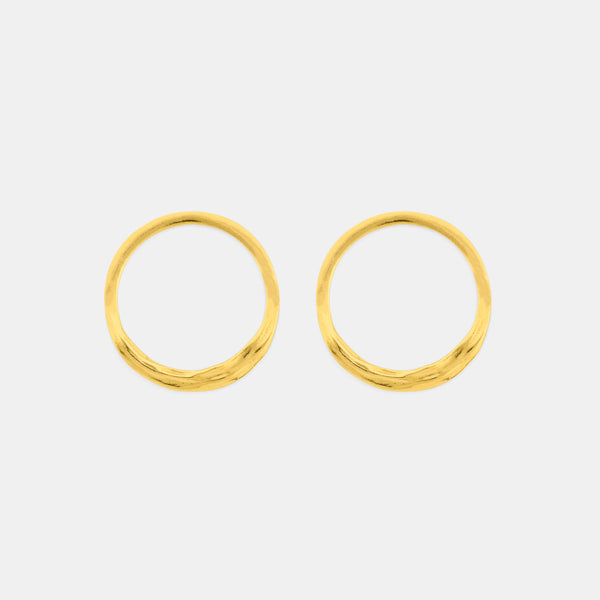 Ocean Breeze - Minimalist Gold Earrings - Pargo Jewelry