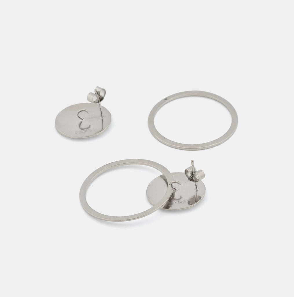 Flow Earrings - Contemporary silver jewelry - Pargo Jewelry