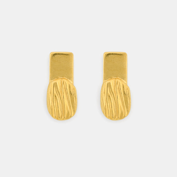 Minimalist Gold Earrings - Flare Earrings - Pargo Jewelry