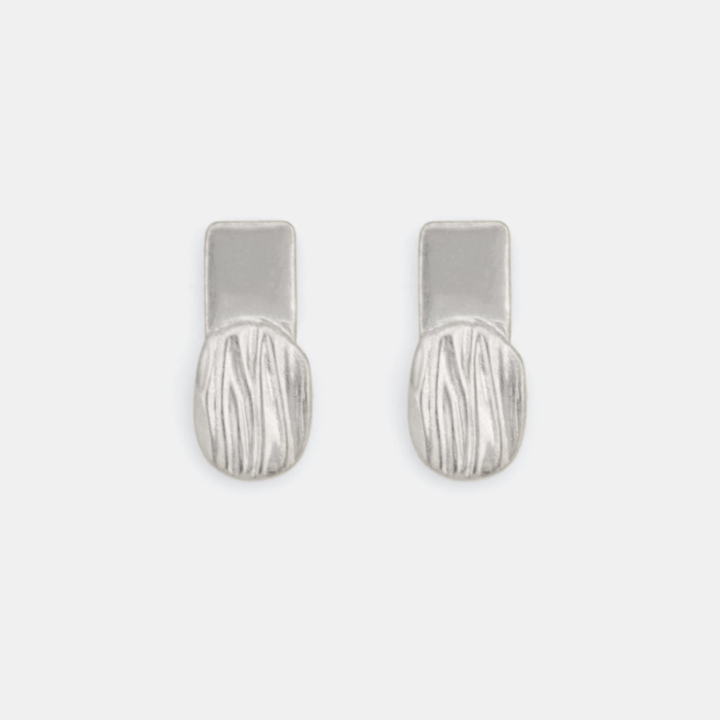 Minimalist Silver Earrings - Flare Earrings - Pargo Jewelry
