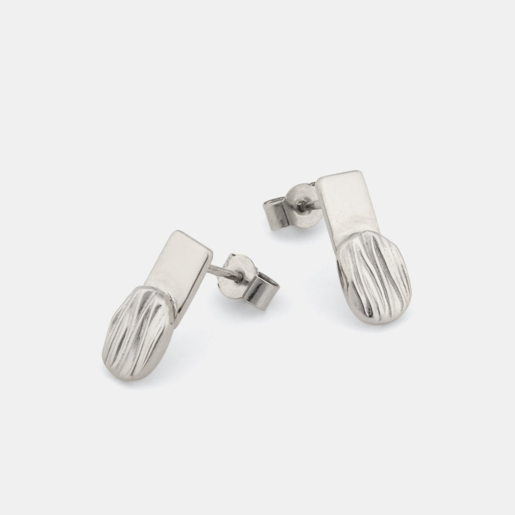 Minimalist Silver Earrings -Flare Earrings - Pargo Jewelry