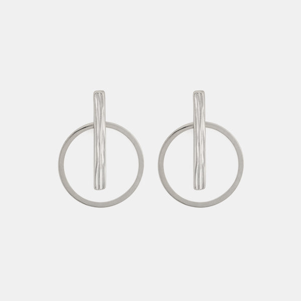 Rivera Earrings - Contemporary Silver Earrings - Pargo Jewelry