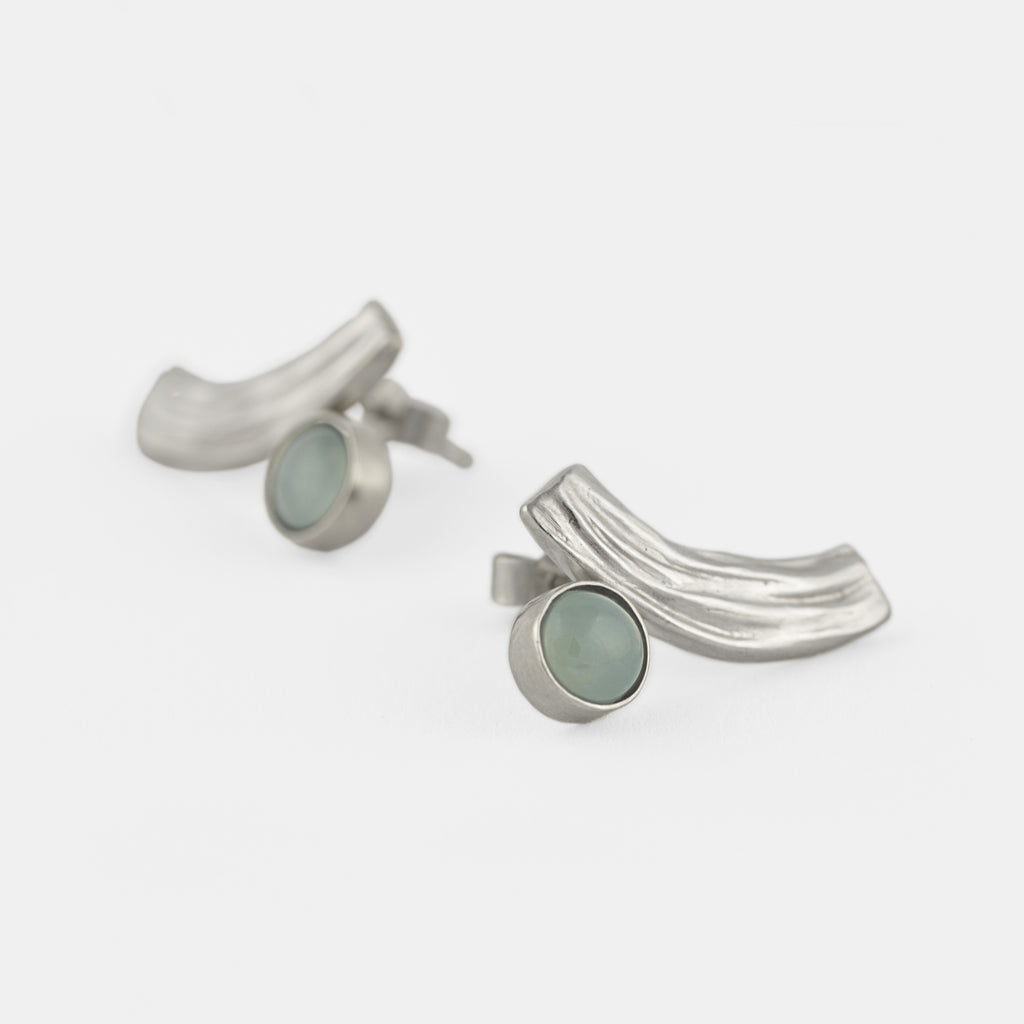 Silver and aquamarine Earrings