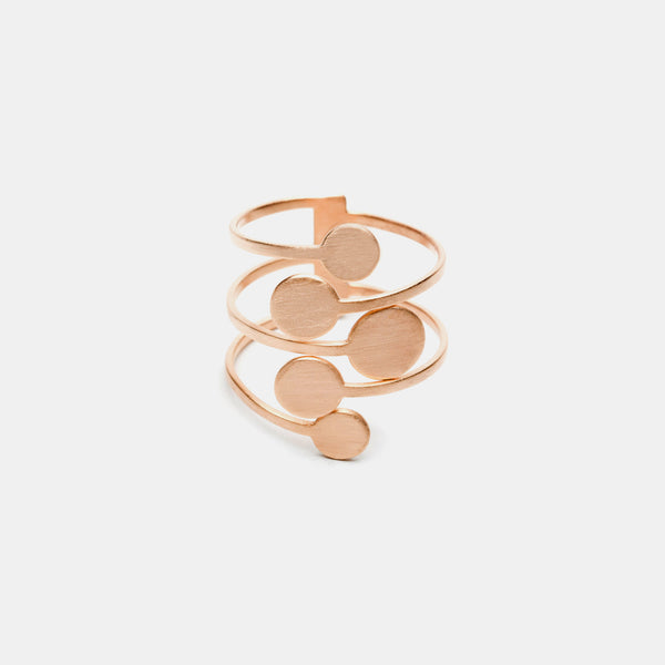 Contemporary Ring, Rose Gold plated - Pargo Jewelry
