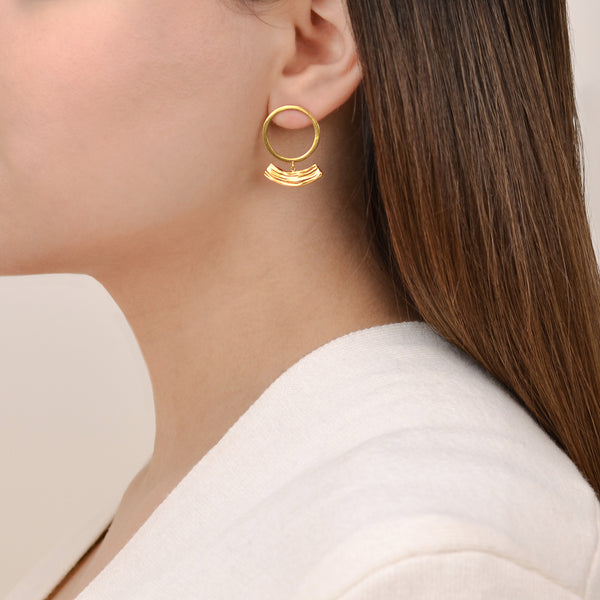 Soft Rhythm - Modern Gold Earrings - Pargo Jewelry