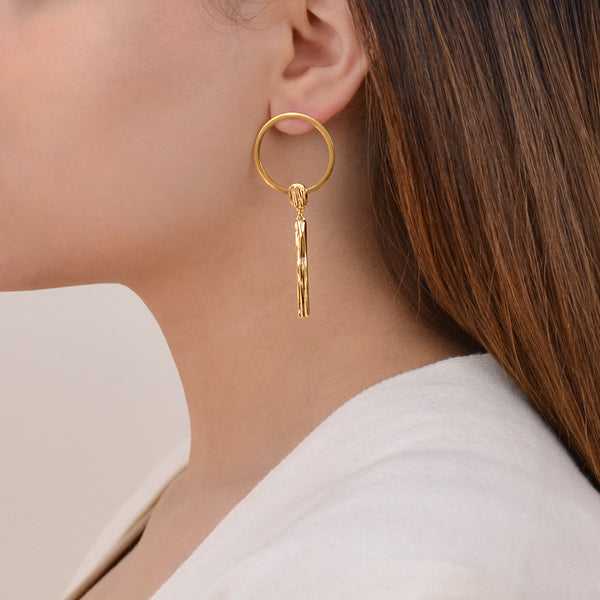 Jari Earrings -  Contemporary Gold Earrings - Pargo Jewelry