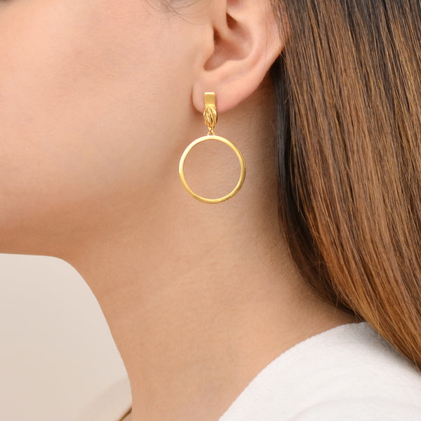 Riva Earrings - Contemporary Gold Earrings  - Pargo Jewelry