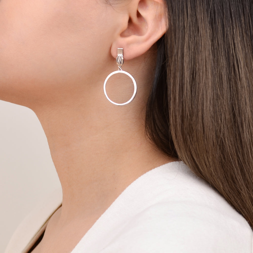 Riva Earrings - Contemporary Silver Earrings - Pargo Jewelry