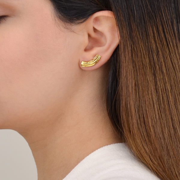 Contemporary Gold Earrings - Pargo Jewelry