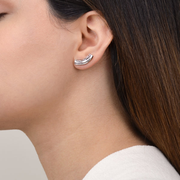 Calm and Blue Earrings - Silver - Pargo Jewelry