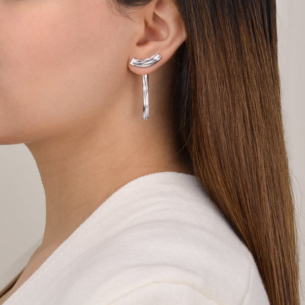 Contemporary Silver Earrings - Pargo Jewelry