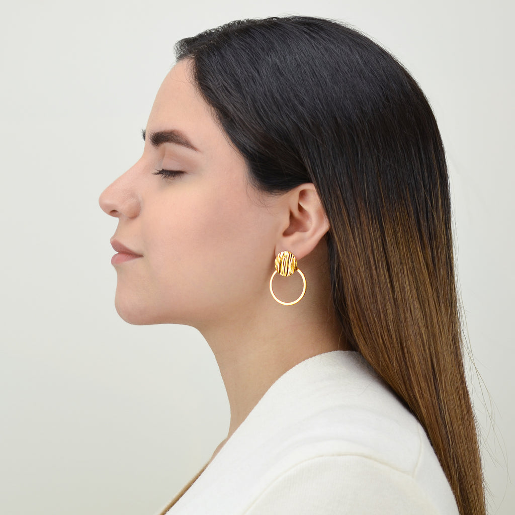 Flow Earrings - Contemporary Gold Jewelry - Pargo Jewelry