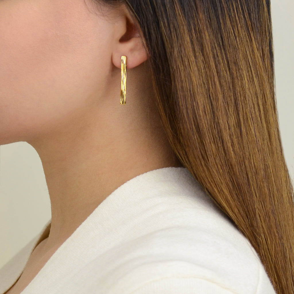 Rivera Earrings - Contemporary Gold Earrings - Pargo Jewelry