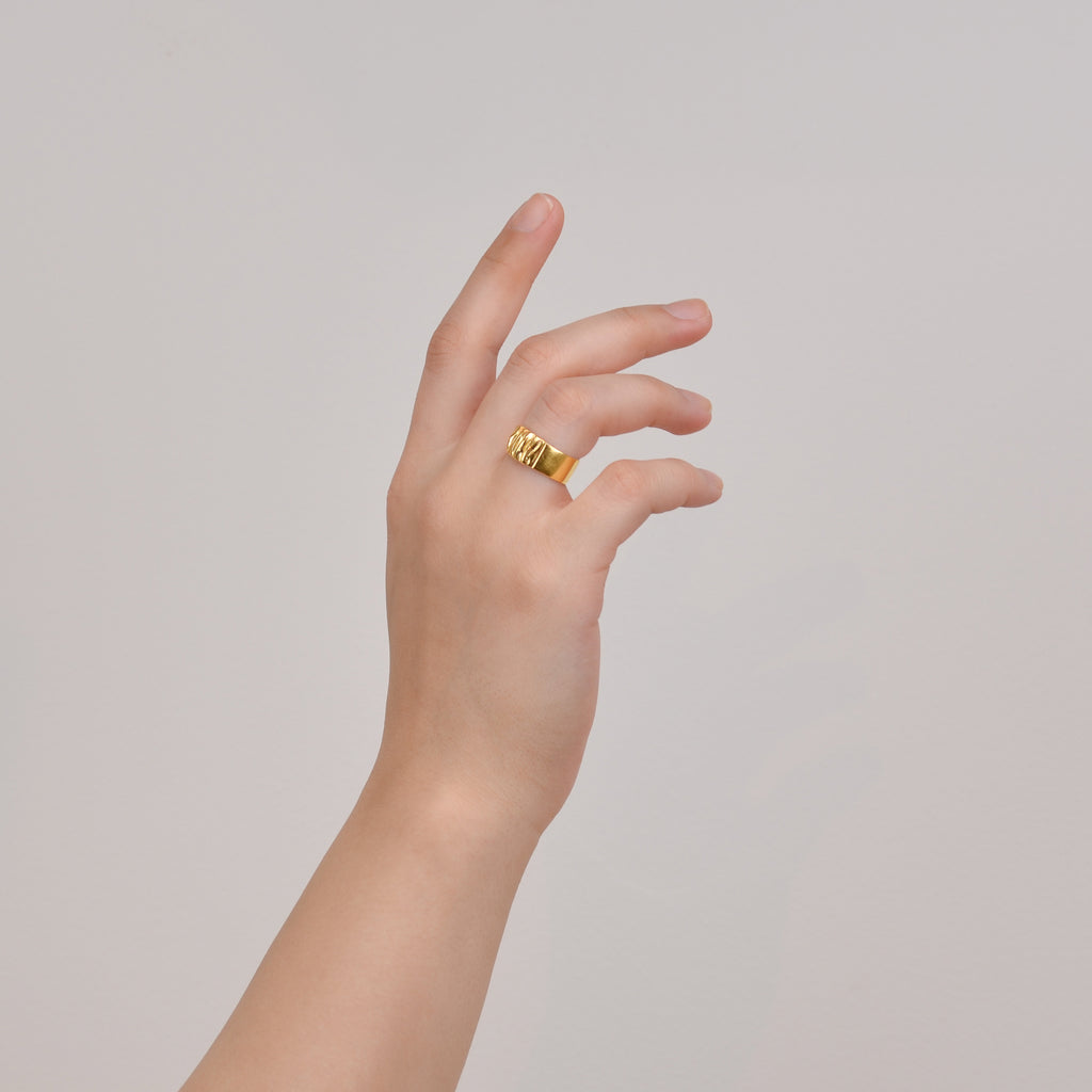 Flow Ring-Contemporary Gold Ring - Pargo Jewelry