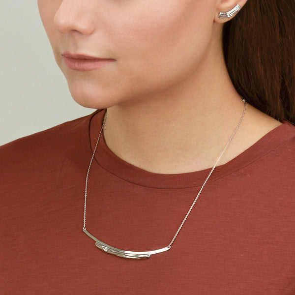 Flow - Contemporary Silver Necklace - Pargo Jewelry