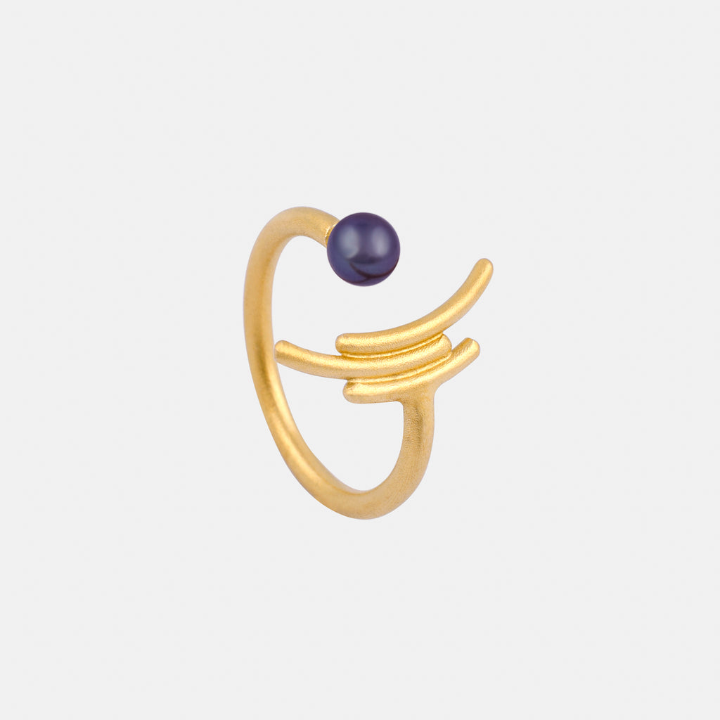 Contemporary Ring - Gold and Pearl - Pargo Jewelry
