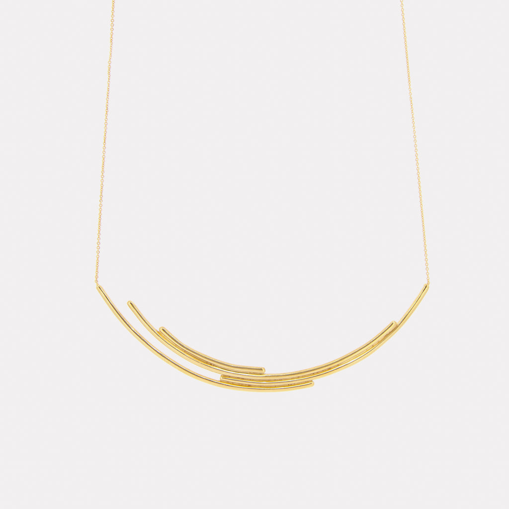 Contemporary Gold Necklace - Pargo Jewelry