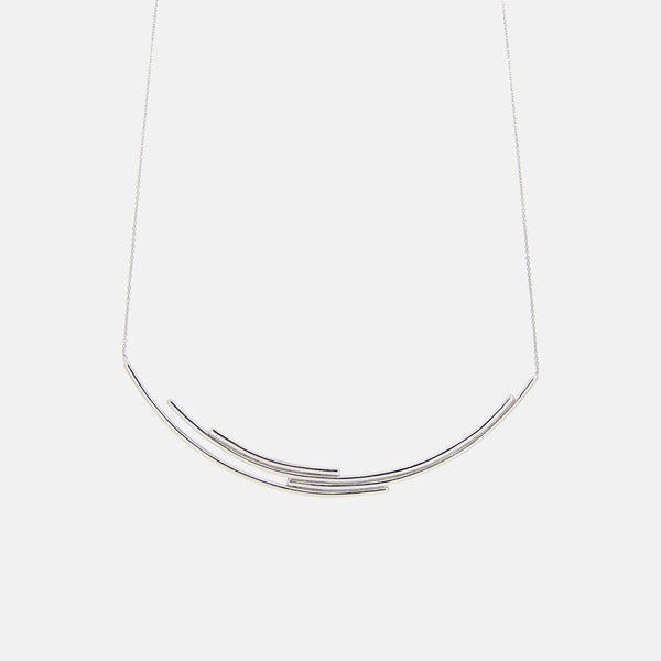 Contemporary Silver Necklace - Pargo Jewelry
