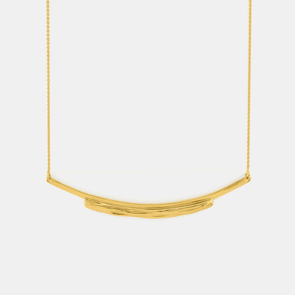 Flow - Contemporary Gold Necklace - Pargo Jewelry
