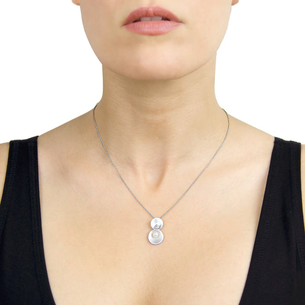 Origin Necklace - Silver and Freshwater Pearl - Pargo Jewelry