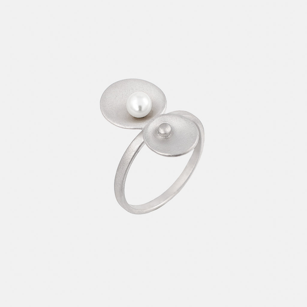Origin Ring - Silver and Freshwater Pearl - Pargo Jewelry