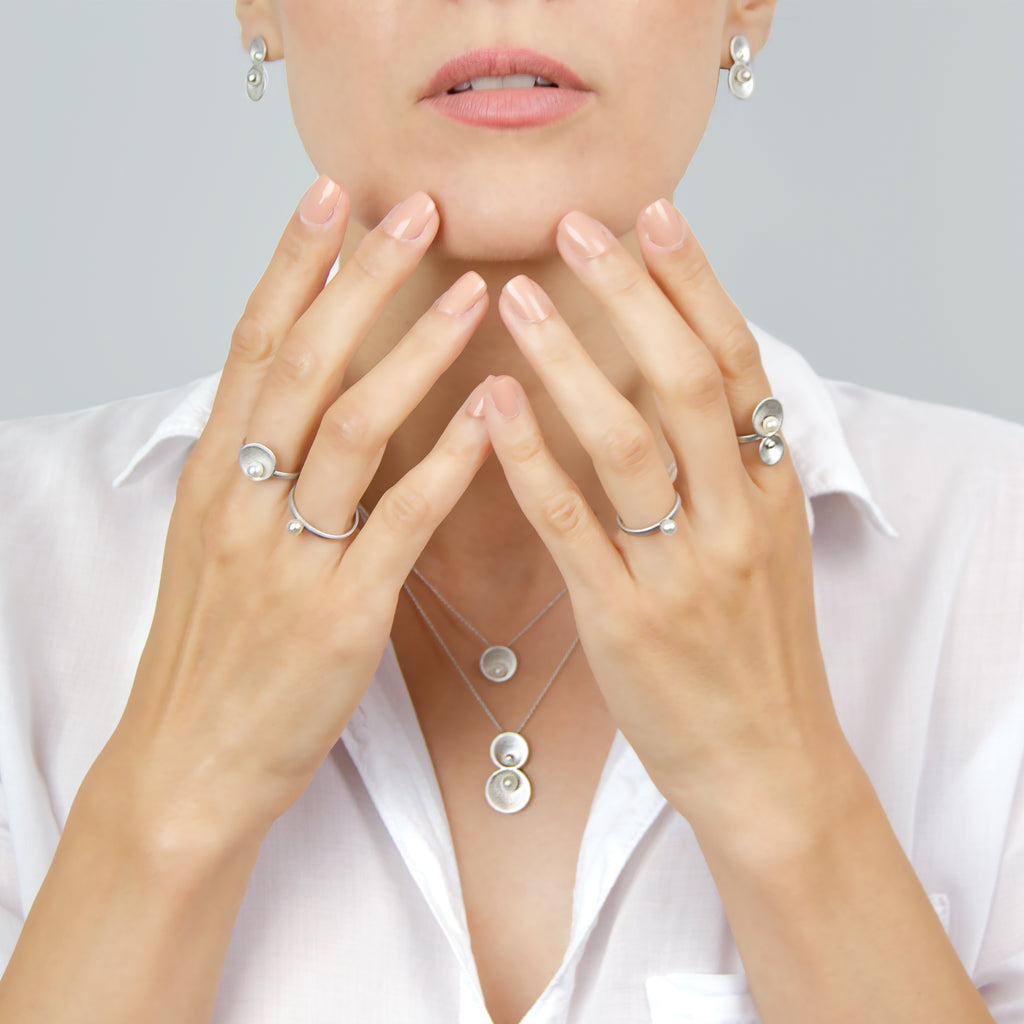 Origin Collection by Pargo Jewelry - Rings, earrings, necklaces in silver and freshwater pearl
