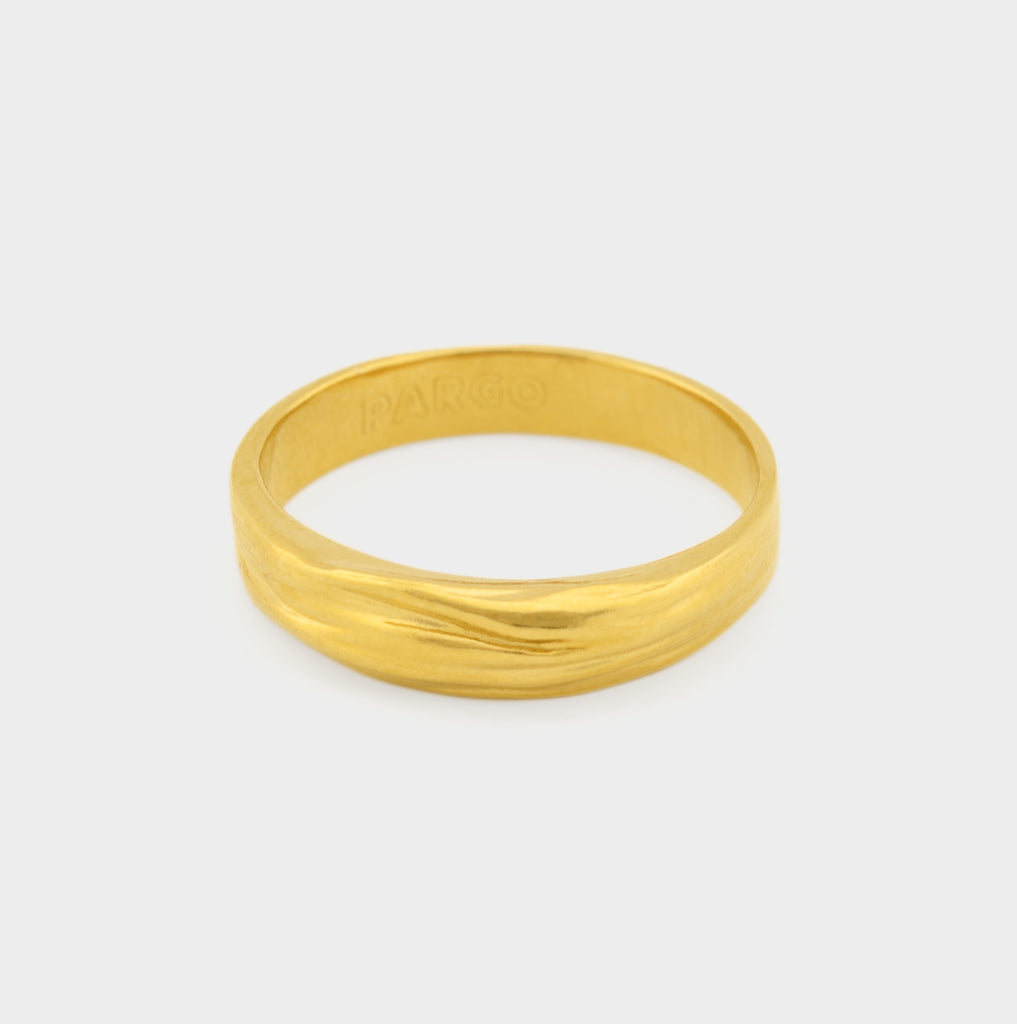 Ocean Breeze - Modern Gold Ring - Pargo Jewelry
