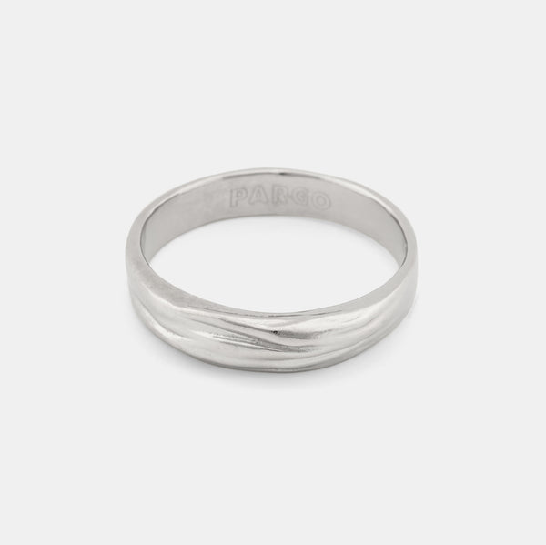 Ocean Breeze - Modern Silver Ring - Pargo Jewelry