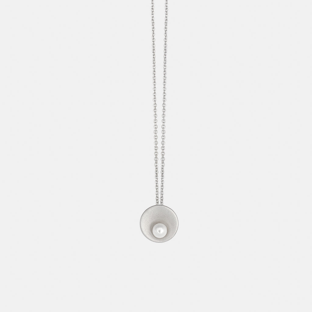 Minimalist Silver Necklace with Freshwater Pearl - Pargo Jewelry