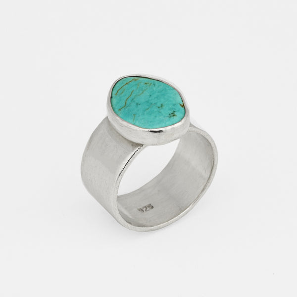 Turquoise and Silver Ring - Pargo Jewelry